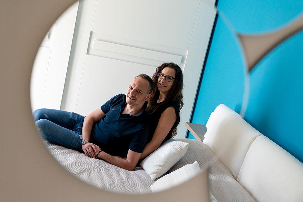 progettazione interni camera matrimoniale pisa mobili gronchi