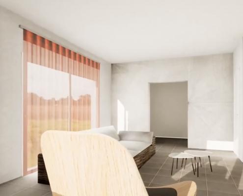 simulazione 3d casa cenaia pisa