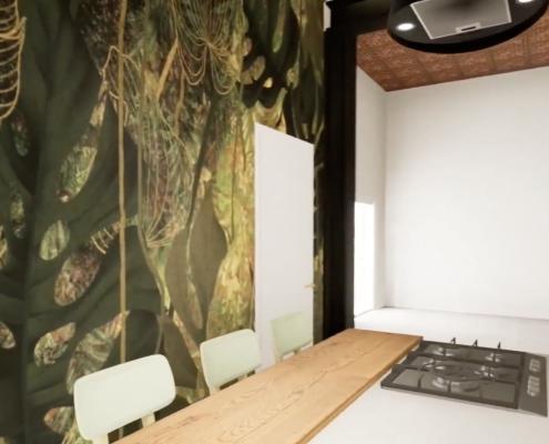 simulazione 3d arredo casa cenaia pisa