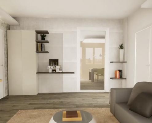 virtualizzazione 3d arredamento casa pisa mobili gronchi