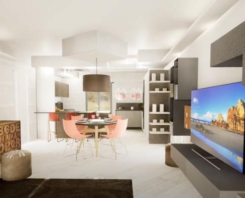 simulazione 3d arredamento casa pisa mobili gronchi